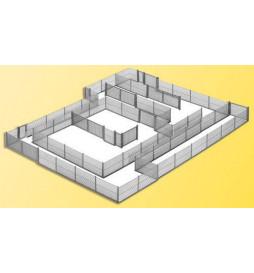 Kibri 38605 - H0 Ogrodzenie z siatki metalowej, 280 cm