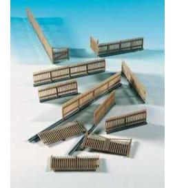 Kibri 38625 - H0 Deco-set Ogrodzenie drewniane