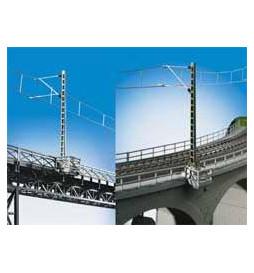 Kibri 39754 - H0 Słup trakcyjny, mostowy