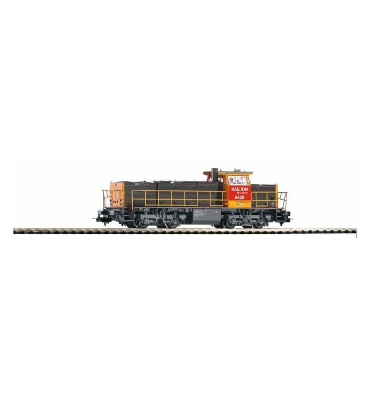 ~Spalinow. NS 6400 grau/gelb m. rotem Führerhaus + lastg Dec. - Piko 59822