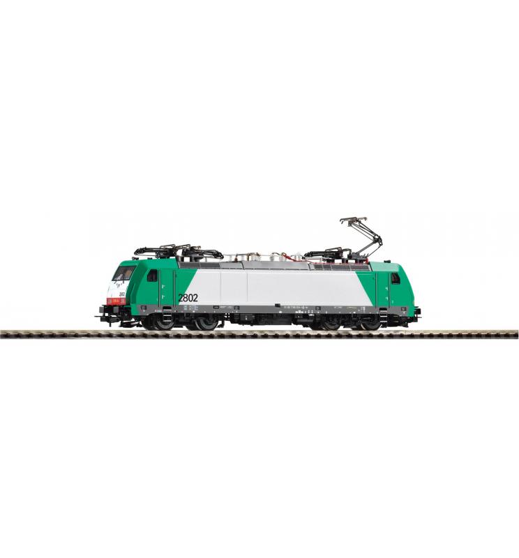 ~Elektrow. BR 186 Alpha Trains 2802 VI, 4 Pantos VI + lastg.Dec. - Piko 59858