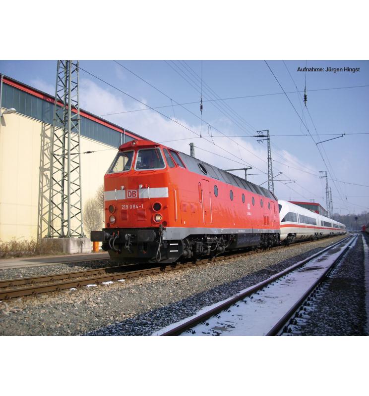 Spalinow. BR 219 084-1 DB AG VI Museumslok, Licht oben + LokSound - Piko 59938