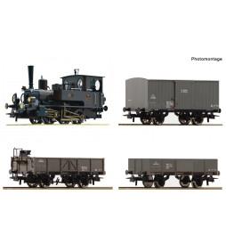 """Roco 61458 - 4-tlg. Set: Dampflokomotive Reihe 85 mit Güterzug """"Kaiserzeit"""", KKStB"""