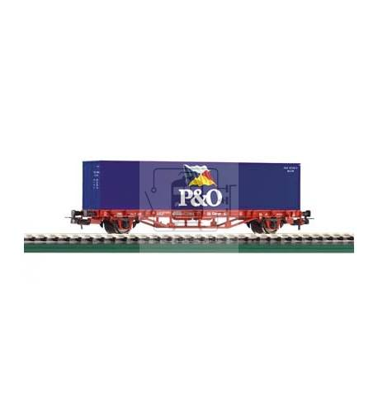 Wagon Towarowy Platf. z konten. P&O DB-Cargo V - Piko 57706