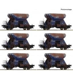 Roco 75959 - Zestaw 12 szutrówek Railpro fabrycznie patynowanych