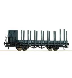 Roco 66349 - Wagon platforma z kłonicami, PKP