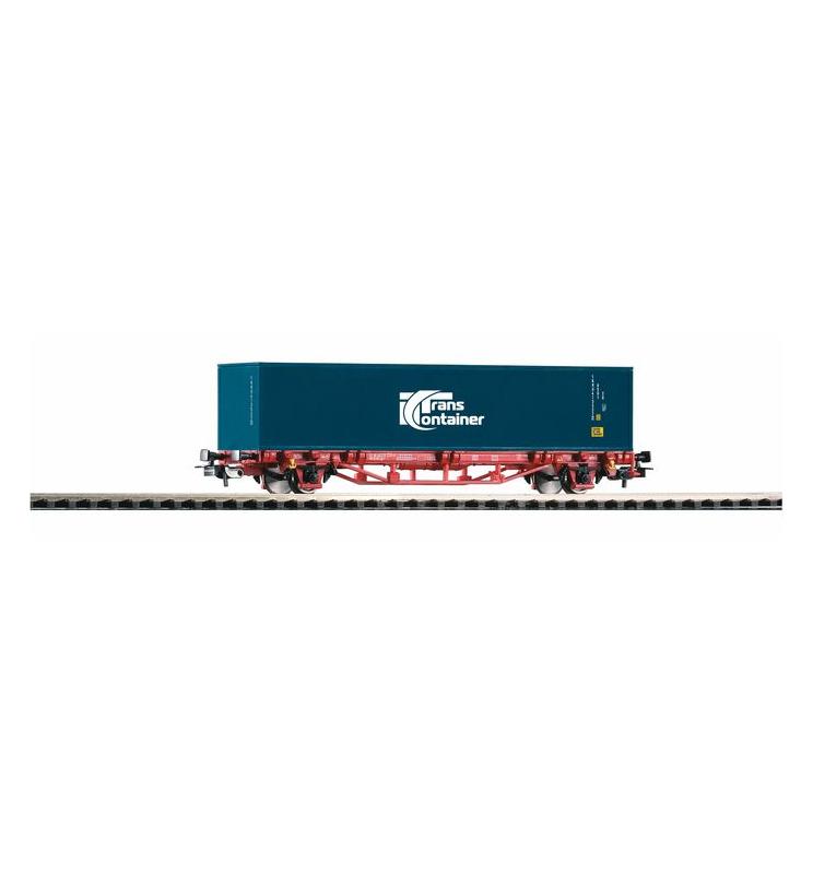 """Wagon Towarowy Platf.z kontenerowy Transcontainer VI 1x40"""" - Piko 57773"""