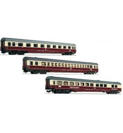 """Fleischmann 481806 - Zestaw 3 wagonów IC """"Riemenschneider"""" DB, część 1"""