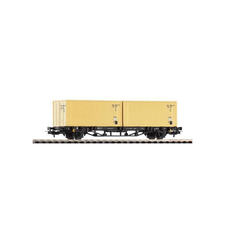 Wagon Towarowy Platf.z kontenerowy 2X20' DR-Container DR IV - Piko 57791