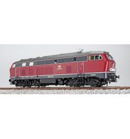 Lokomotywa spalinowa BR218 235, ciemnoczerwona, DC (ESU 31025)