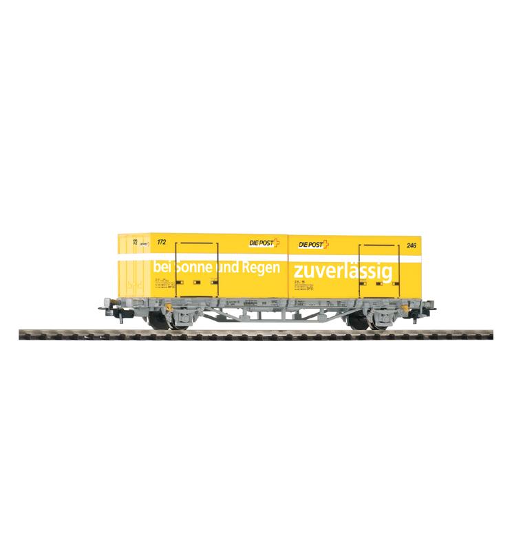 Wagon Towarowy Platf.z kontenerowy 2x20' SBB-CFF Post V - Piko 96042