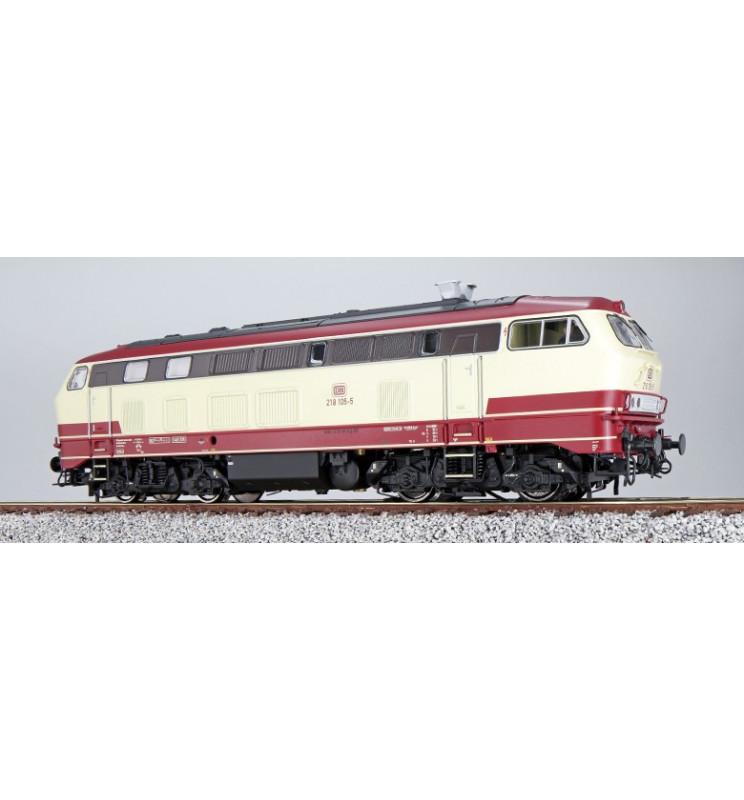 Lokomotywa spalinowa BR218 105, malowanie TEE, AC (ESU 32027)