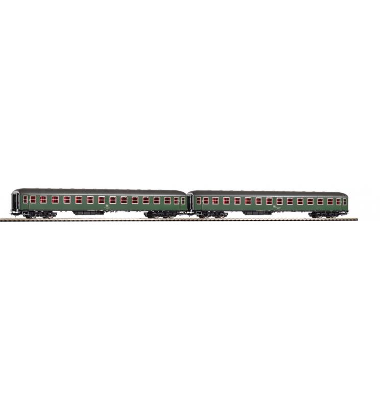 Zestaw 2 cz. Pośp.2.Kl. Büm 232 DB IV zielony - Piko 58341