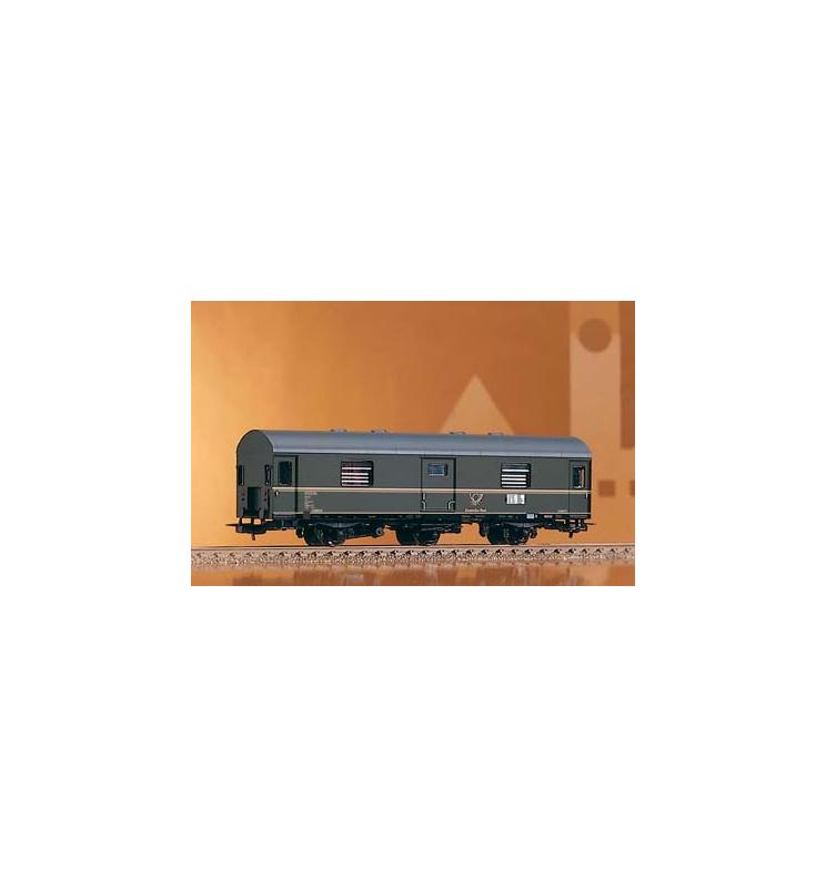 Wagon pocztowy 3 osie 3e-cI/12,8 DR III - Piko 53083