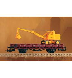 Wagon Towarowy Platforma, DR III, z koparką - Piko 54128