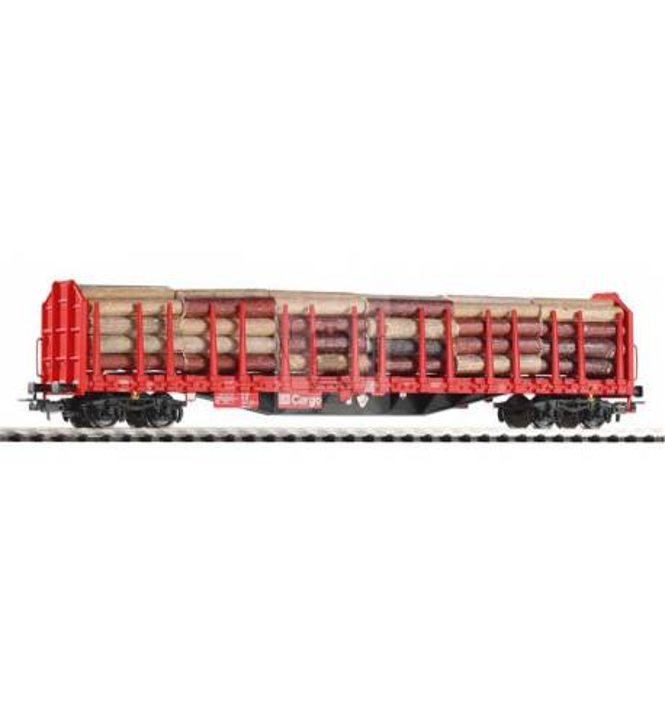 Wagon Towarowy z kłonicami, Roos-t642 DB AG V m.Holzladung - Piko 54339