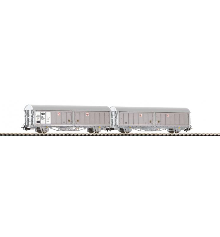 Wagon Towarowy ze ścian.przesuw. Hillmrrs MAV V, 2 szTowarowy - Piko 54417