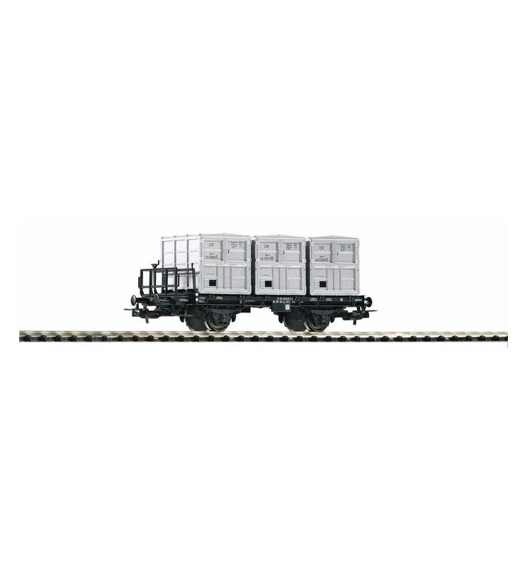 Wagon Towarowy Kubełkowy, BT91 DR IV, 3 pojemniki - Piko 54422