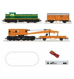 Roco 51305 - Zestaw startowy cyfrowy z21®: Lok. spalinowa D.307 z pociągiem technicznym, RENFE