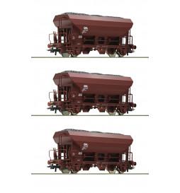 Roco 76173 - Zestaw 3 wagonów samowyładowczych CFL