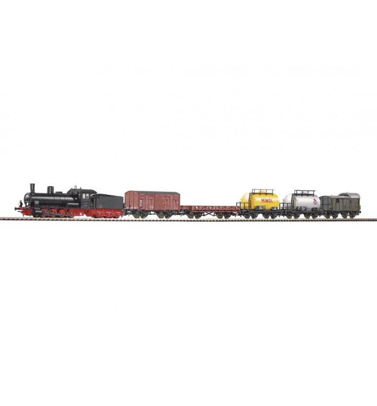 Piko 57120 - Zestaw Startowy towarowy Parowóz G7.1 + 5 Wagonów