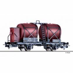 "Tillig H0 76735 - Wine barrel car ""Waggonleihanstalt R. Metzger, Wien"" of the ÖBB, Ep. III -NEW-"