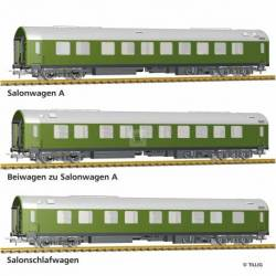 "Tillig H0 70039 - Passenger coach set ""Salonwagenzug 2"" of the DR, with three passenger coaches, Ep. IV -NEW-"