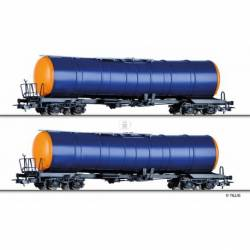 Tillig H0 70040 - Freight car set of the WASCOSA AG with two tank cars Zacns, Ep. VI