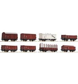 Roco 44002 - Zestaw 8 wagonów towarowych DB