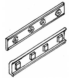 Weinert 74014 - Podkłady drewniane bliźniacze, MeinGleis Code 75, 10 szt.