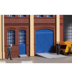 Auhagen 80255 - Tore und Türen blau, Stufen, Rampen