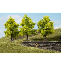 Auhagen 70935 - Drzewa liściaste jasnozielone 7 cm, 3szt