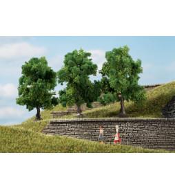 Auhagen 70936 - Drzewa liściaste ciemnozielone 7 cm, 3szt