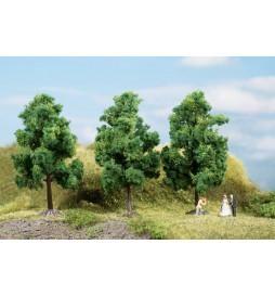 Auhagen 70938 - Drzewa liściaste ciemnozielone 11 cm, 3szt