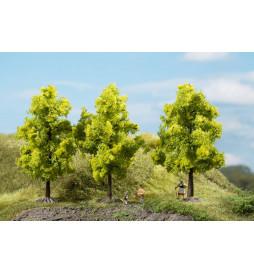 Auhagen 70937 - Drzewa liściaste jasnozielone 11 cm, 3szt
