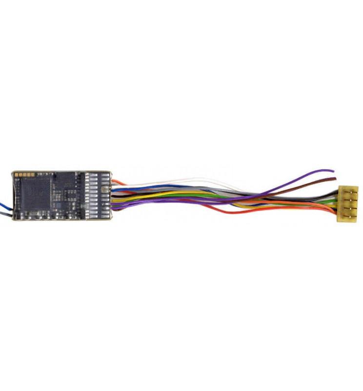 Dekoder jazdy i dźwięku MX645R (3W) DCC NEM652 8-pin z przewodami