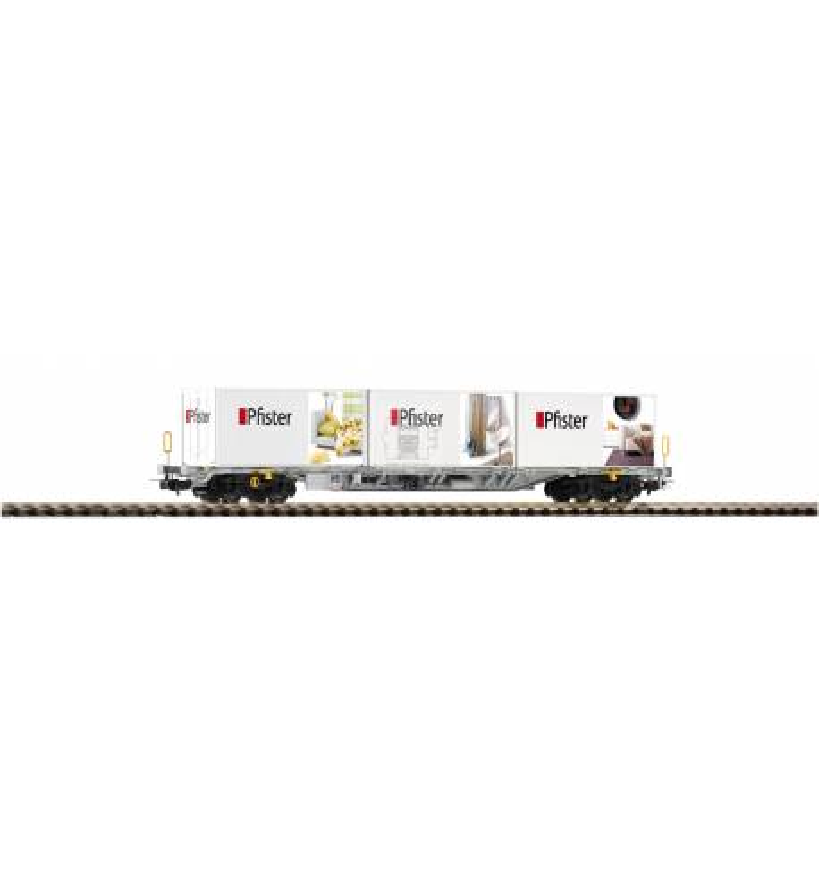 Wagon Towarowy Platforma, Sgnss Container Pfister VI - Piko 54682