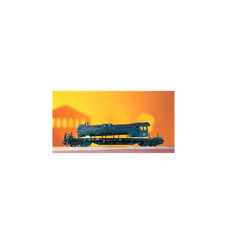 Wagon Towarowy Platforma, + Kocioł lokomotywy BR41 DR IV - Piko 54803