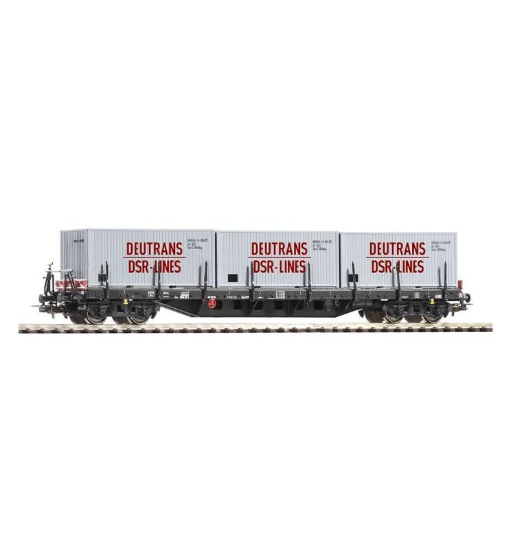 Wagon Towarowy Platforma, z 3 kontener. DSR DR IV - Piko 54829