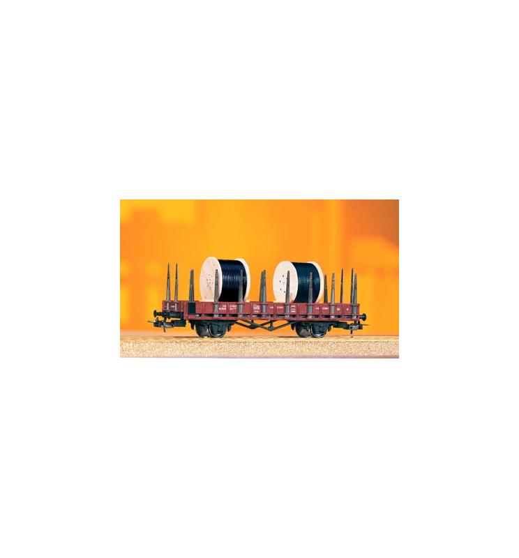 Wagon Towarowy Platf.z kłonic. Kkm3230 DR IV + Ktrommeln - Piko 54833