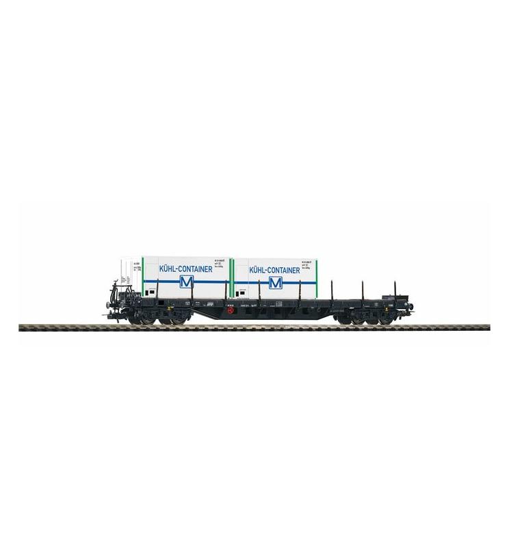 Wagon Towarowy Platforma, Rgs3910 DR IV, 2X konTowarowy chłodnia (równy) - Piko 54836