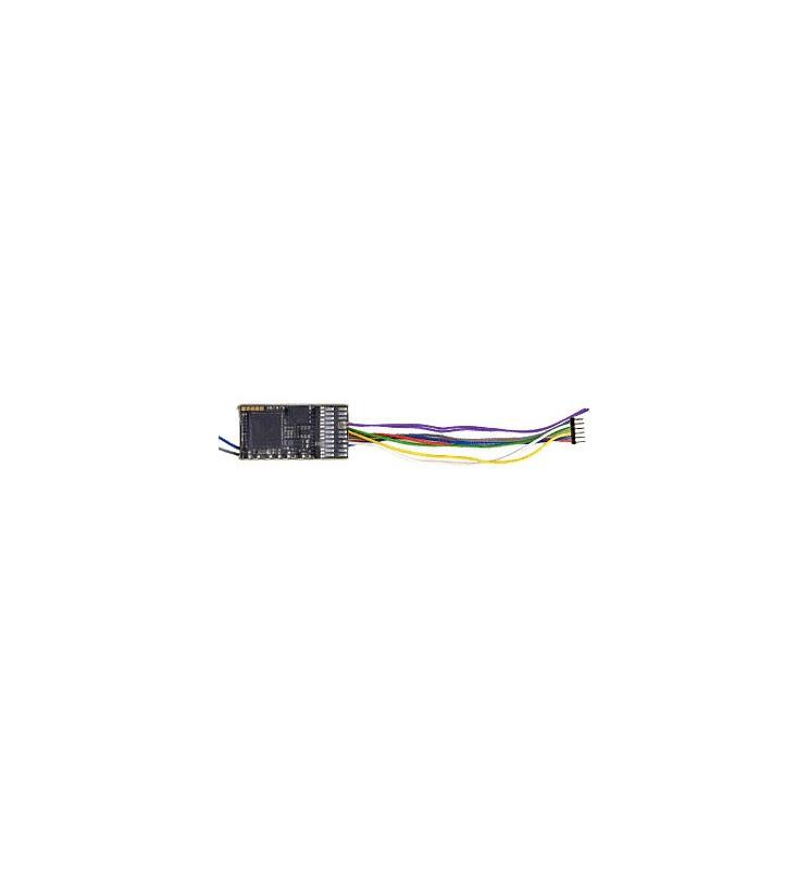 Dekoder jazdy i dźwięku MX645F (3W) DCC NEM651 6-pin z przewodami