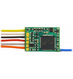 Dekoder jazdy i oświetlenia Zimo MX617 DCC 9-kabli