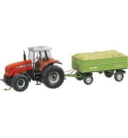 cs Traktor MasseyFergusson z przyczepą - Faller 161536