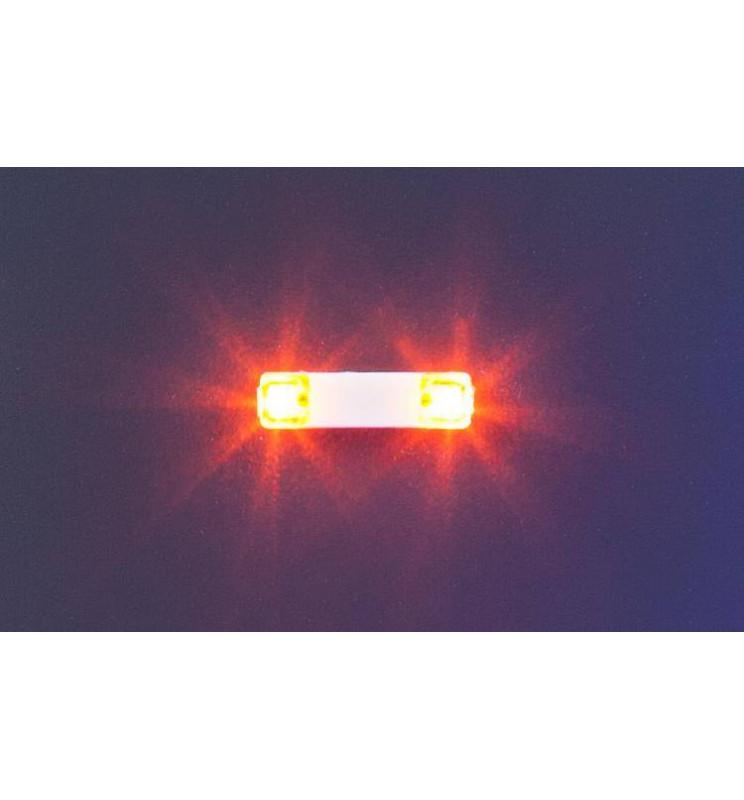 Faller 163760 - Belka ze światłami ostrzegawczymi, pomarańczowa, 13,5mm