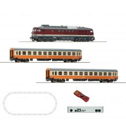 Roco 51301 - Cyfrowy zestaw startowy z21start, lok. BR132 DCC z dźwiękiem + 2 wagony pasazerskie