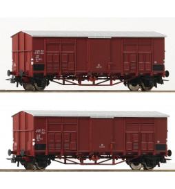 Roco 76164 - Zestaw dwóch wagonów towarowych FS
