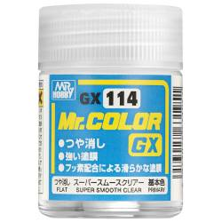 Mr.Hobby GX-114 - Farba Mr. Color, Super Smooth Clear Flat (18ml)