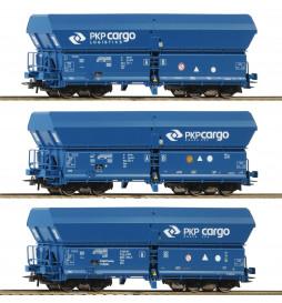 Roco 76133 - Zestaw 3 wagonów samowyladowczych Fals, PKP Cargo