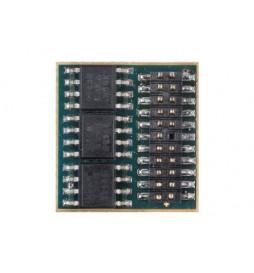 Miniaturowy dekoder funkcyjny DCC/SX1/SX2/MM D&H FH05B-0 tylko styki, bez przewodów
